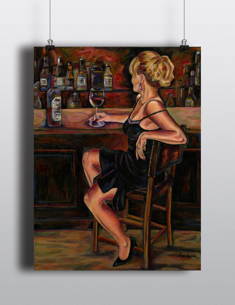 Annie at the bar