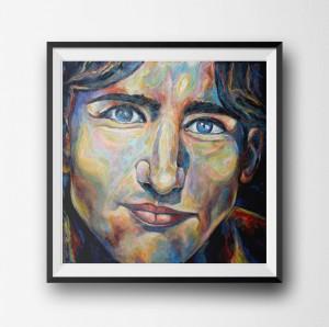 Justin Trudeau Portrait Framed